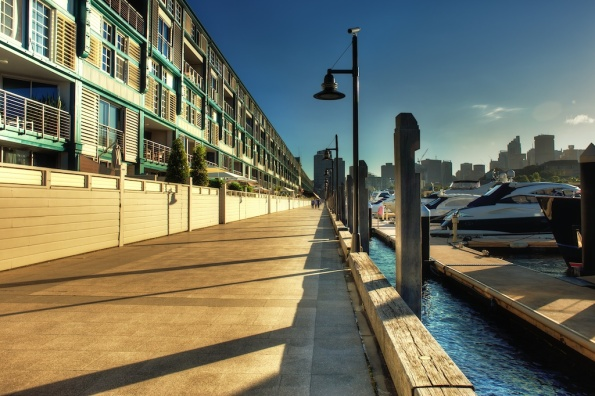 Woolloomooloo pier at sunset in HDR